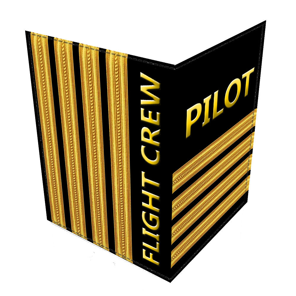 Pilot (4 Bars) Gold Passport Cover