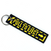 Pull To Eject Embroidered Keyring