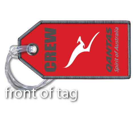 Qantas Crew- Embroidered Tag
