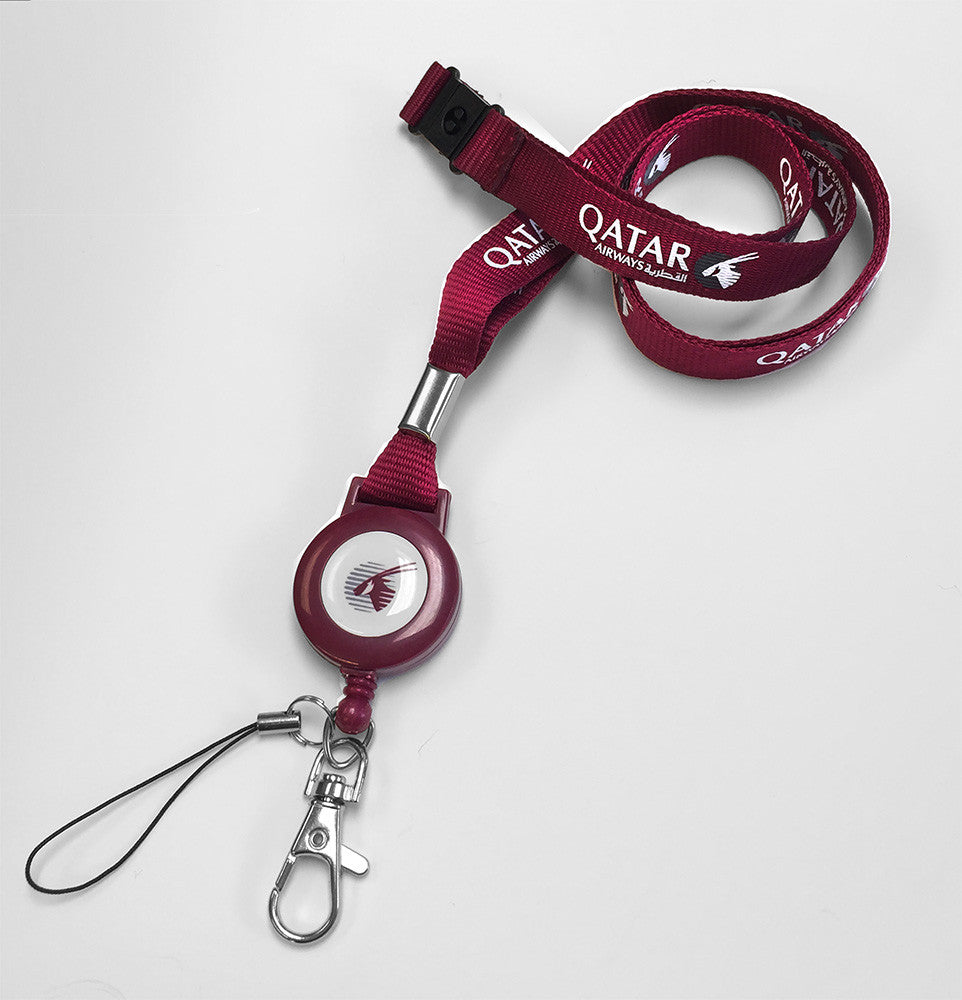 Qatar Crew Lanyard+Badge Reel