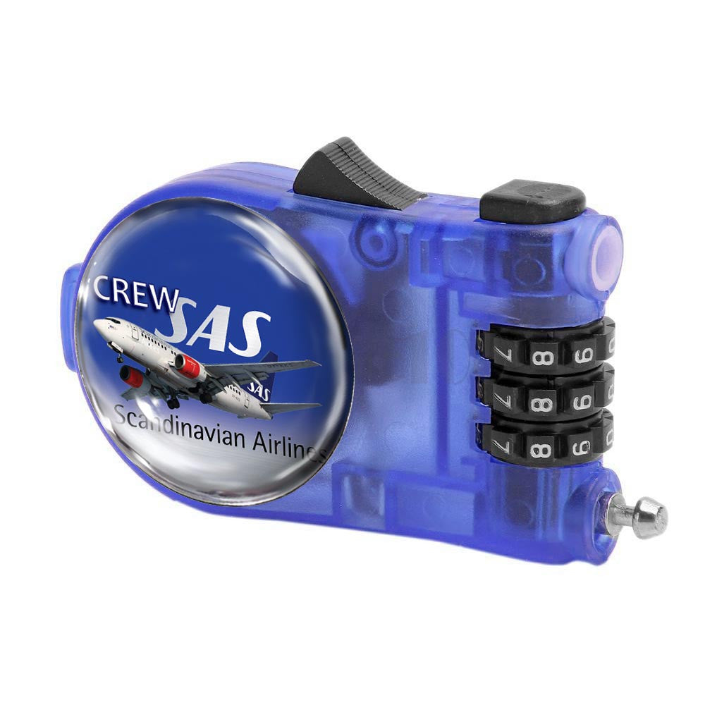 Retractable Combination Lock-SAS A319 Crew