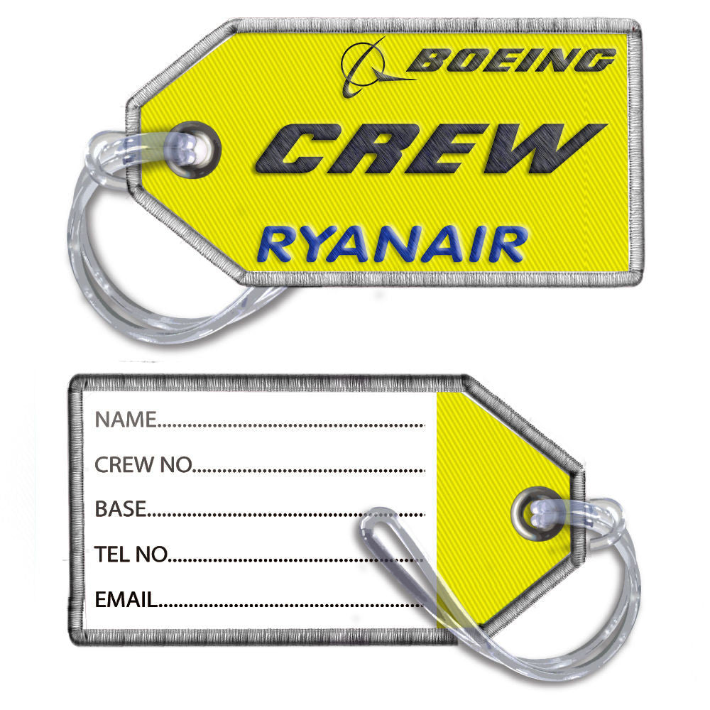 Ryanair Crew Embroidered Tag