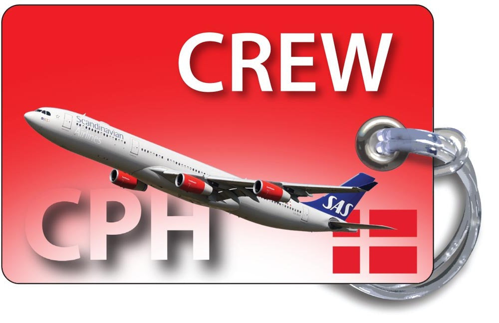 SAS A340-Red Background (Denmark)