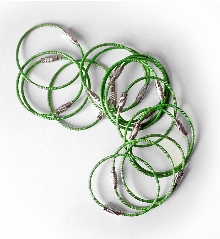 Steel Cable Loops-GREEN