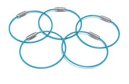 Steel Cable Loops-LIGHT BLUE