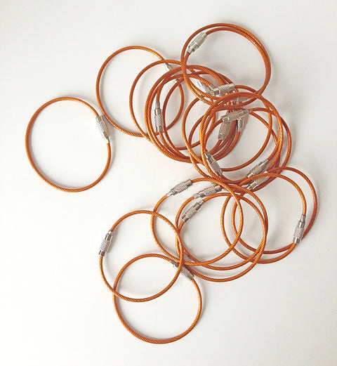 Steel Cable Loops-ORANGE