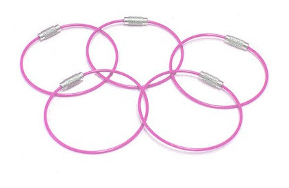 Steel Cable Loops-PINK