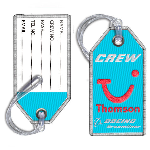 Thomson Airways Dreamliner-Embroidered Tag