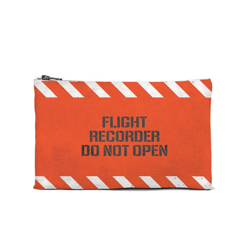Flight Recorder Do Not Open Cosmetic Pouch