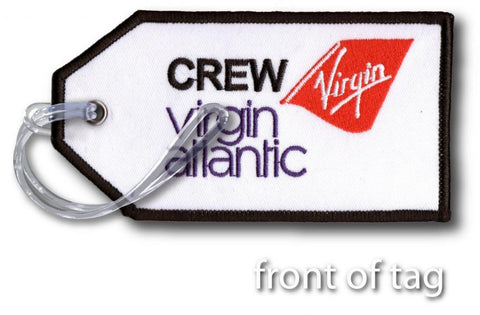 Virgin Atlantic Embroidered Tag
