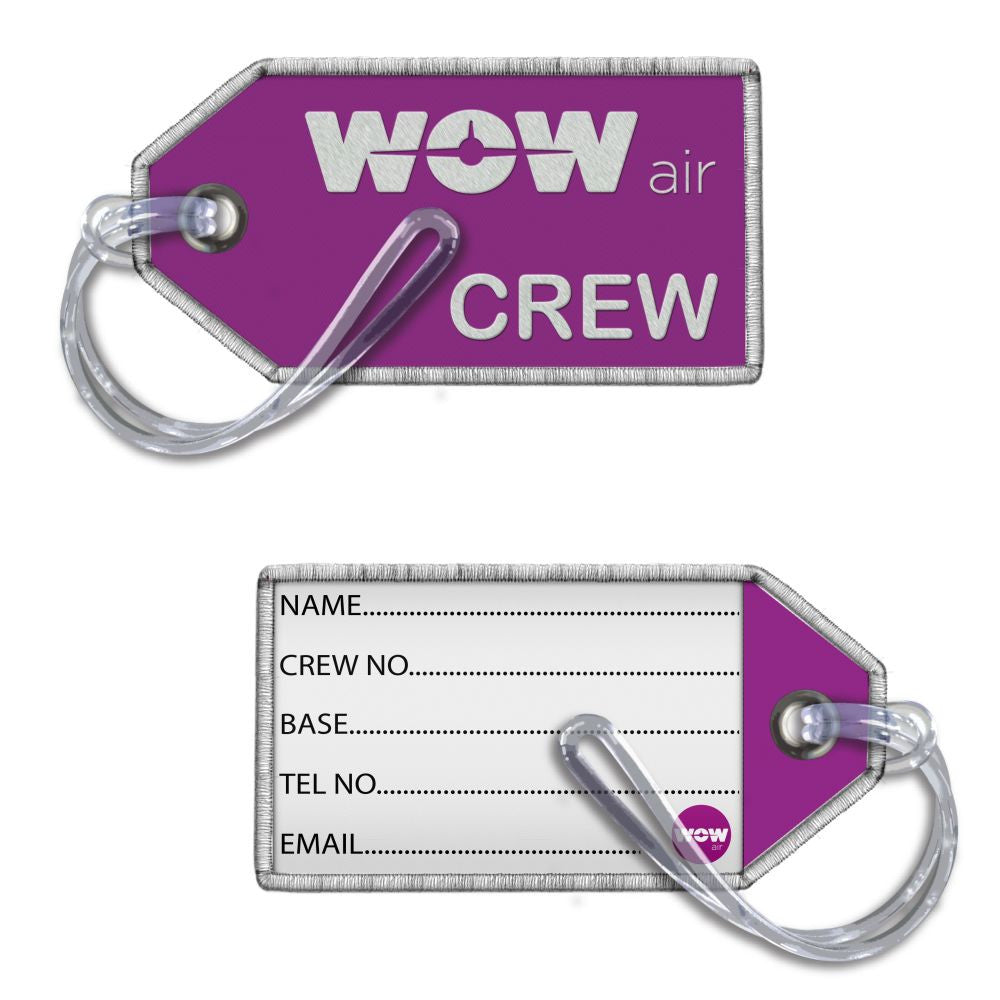 WOW Air Crew- Embroidered Tag