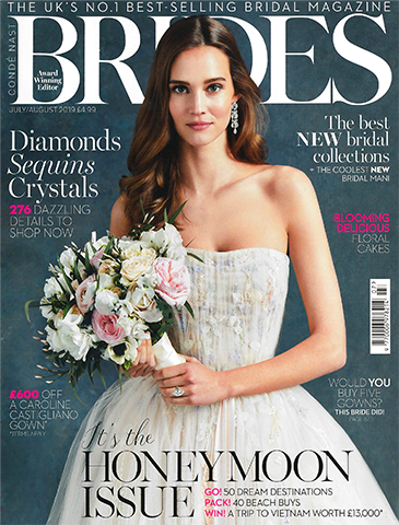 Shirin Uma Pinky - Cushion Diamond Engagement Ring Featured in Brides July/August '19