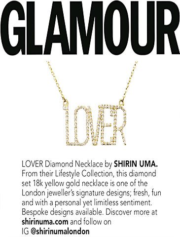 Shirin Uma Lover - Diamond Necklace Featured in Glamour Spring/Summer '19