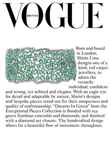 Dreams in Green - Emerald and Diamond Bracelet Featured in Vogue April '19