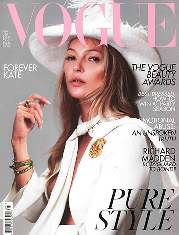So Ruby - Ruby and Diamond Drop Earrings Featured in Vogue May '19