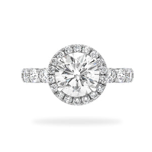 Bien Sur - Round Brilliant Diamond Halo Engagement Ring | Shirin Uma