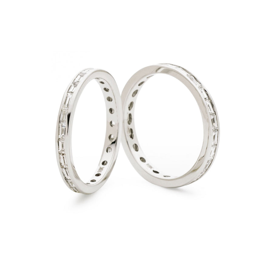 Channel Set Baguette Diamond Eternity Ring - Petite | Shirin Uma