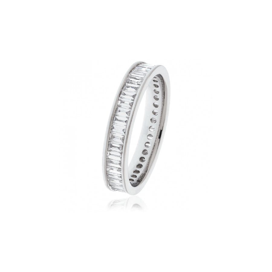 Channel Set Baguette Diamond Eternity Ring | Shirin Uma