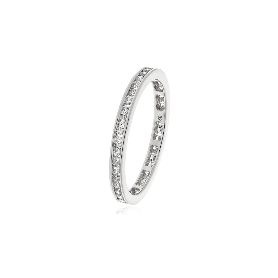 Channel Set Diamond Eternity Rings - Petite in 18k white, Yellow and Rose Gold | Shirin Uma