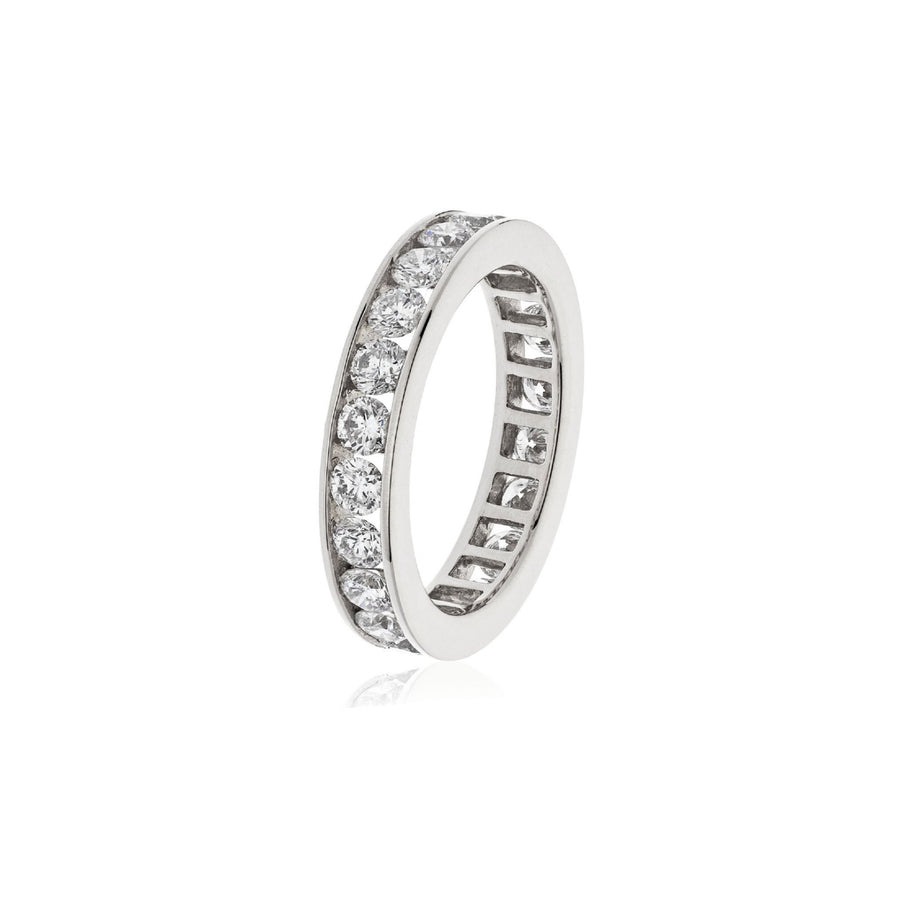 Channel Set Diamond Eternity Rings in White, Yellow and Rose Gold | Shirin Uma