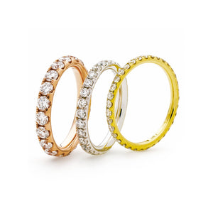 Fishtail Set Diamond Eternity Rings - Petite in 18k White, Yellow and Rose Gold | Shirin Uma