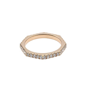 Eternal Eight - Eight Sided Diamond Eternity Ring Set in Rose Gold | Shirin Uma