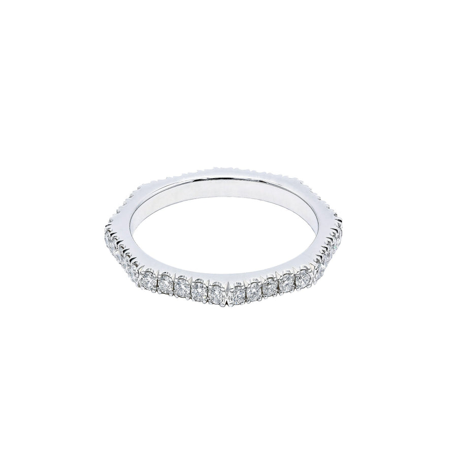 Eternal Eight - Eight Sided Diamond Eternity Ring Set in White Gold | Shirin Uma