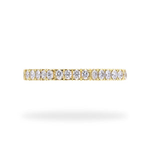 Eternal Eight - Eight Sided Diamond Eternity Ring Set in Yellow Gold | Shirin Uma