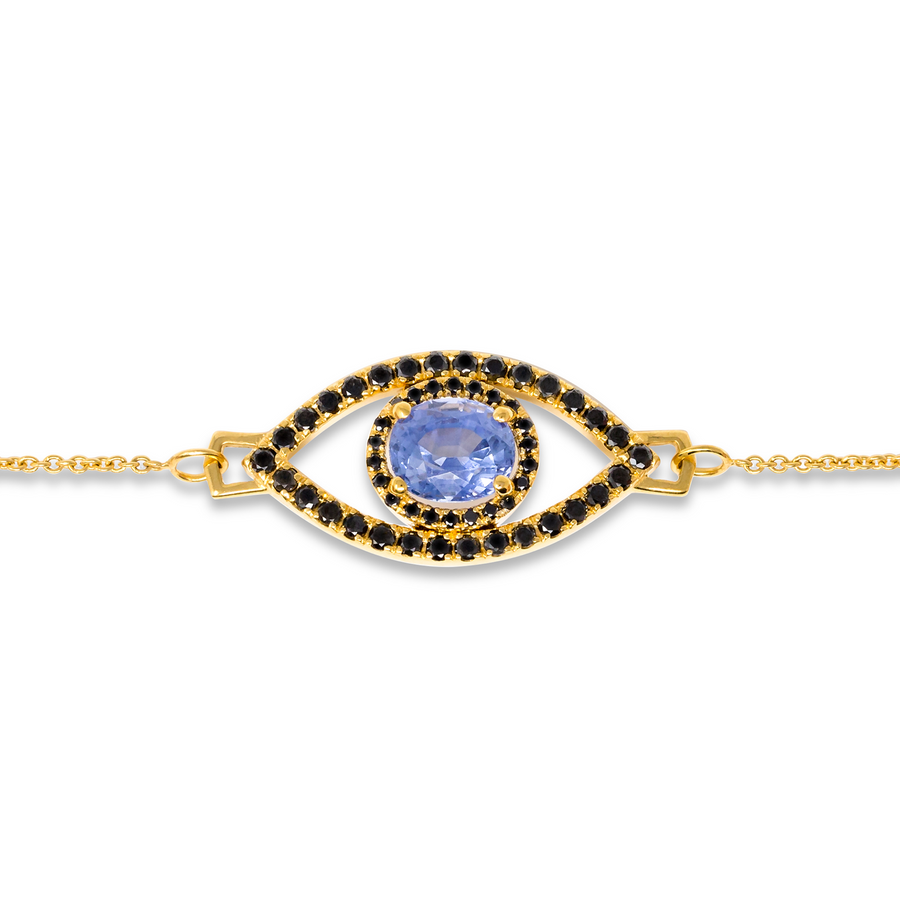 Eye of Protection - Ceylon Sapphire & Black Diamond Bracelet | Shirin Uma