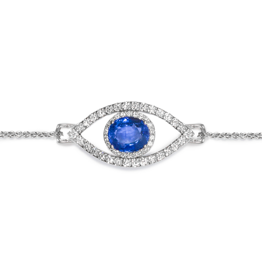 Eye of Protection - Ceylon Sapphire & Diamond Bracelet | Shirin Uma