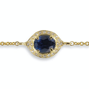 Eye of Protection - Sapphire & Diamond Charm Bracelet | Shirin Uma