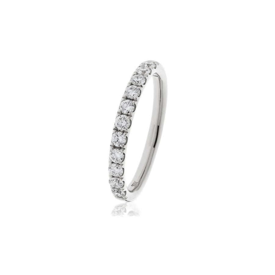 Fishtail Set Diamond Half Eternity Rings - Demi | Shirin Uma