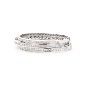 Princess Diamond Half Set Channel Bangle Bracelet | Shirin Uma