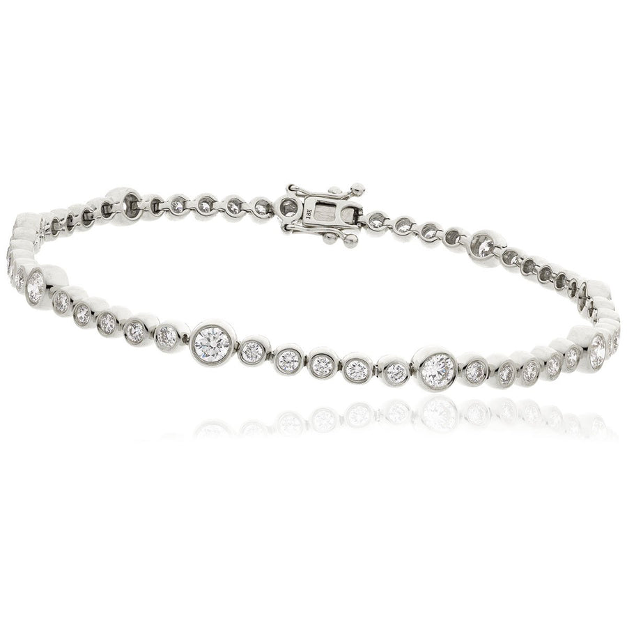 Round Brilliant Diamond Bezel Set Tennis Bracelet | Shirin Uma