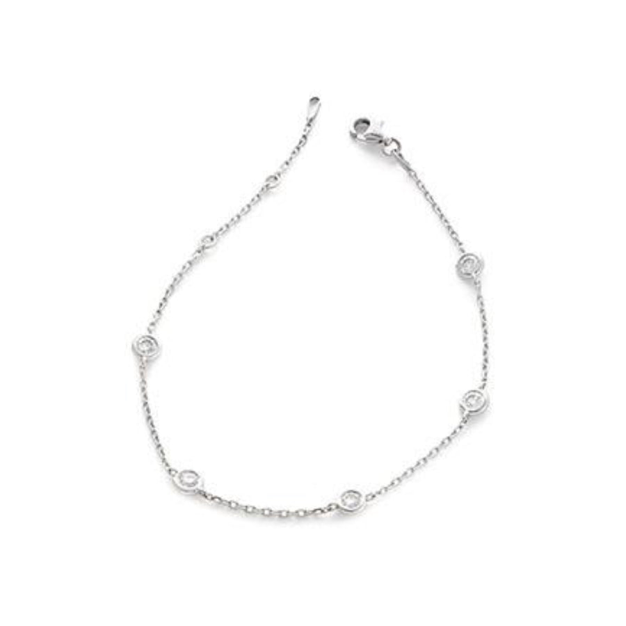 Round Brilliant Diamond Chain Bracelet | Shirin Uma