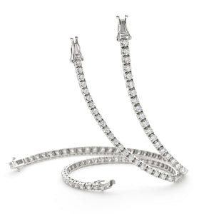 Round Brilliant Diamond Illusion Tennis Bracelet in 18k White Gold | Shirin Uma