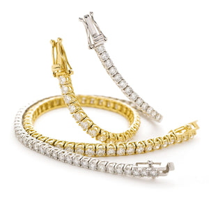 Round Brilliant Diamond Overlapping Claw Tennis Bracelets | Shirin Uma