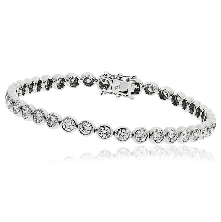 Round Brilliant Diamond Rubover Tennis Bracelets | Shirin Uma