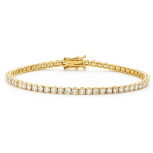 Round Brilliant Diamond Tennis Bracelet in 18k Yellow Gold | Shirin Uma