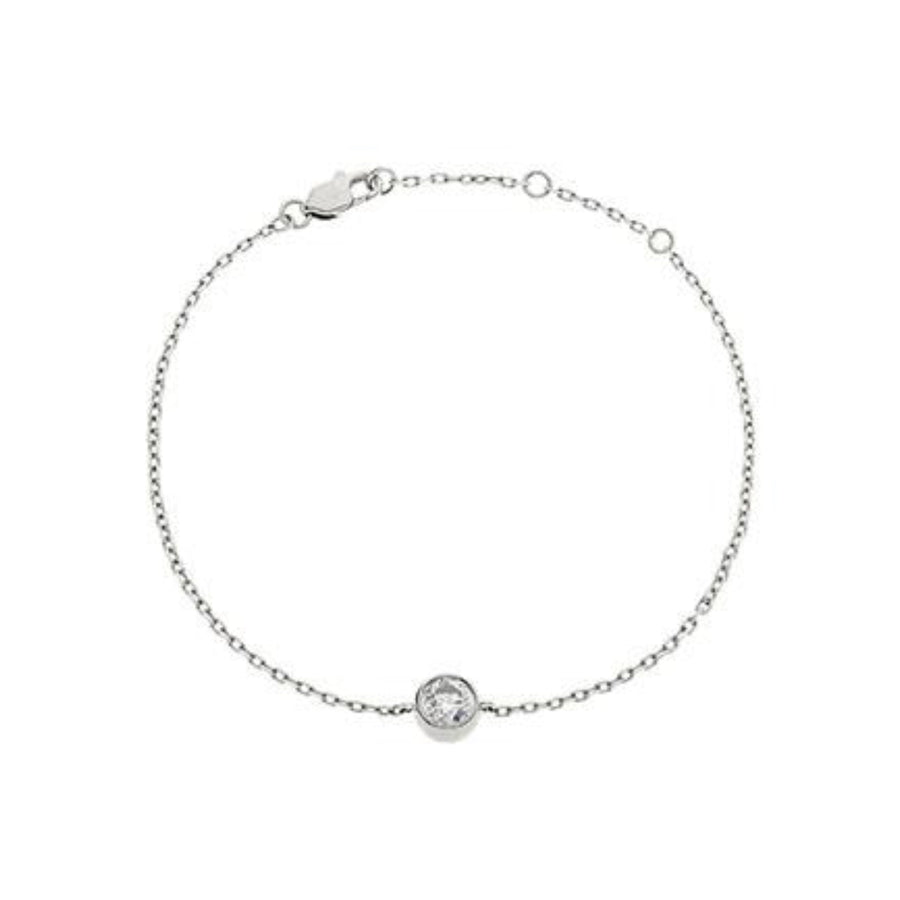Round Diamond Bezel Set Solitaire Bracelet