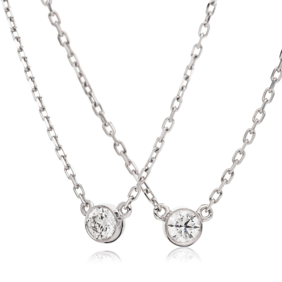 Round Diamond Bezel Set Solitaire Necklace | Shirin Uma