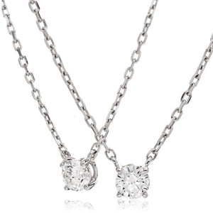 Round Diamond Claw Set Solitaire Necklace | Shirin Uma