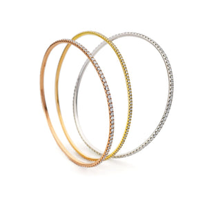 Round Diamond Full Set Fishtail Bangle Bracelets | Shirin Uma