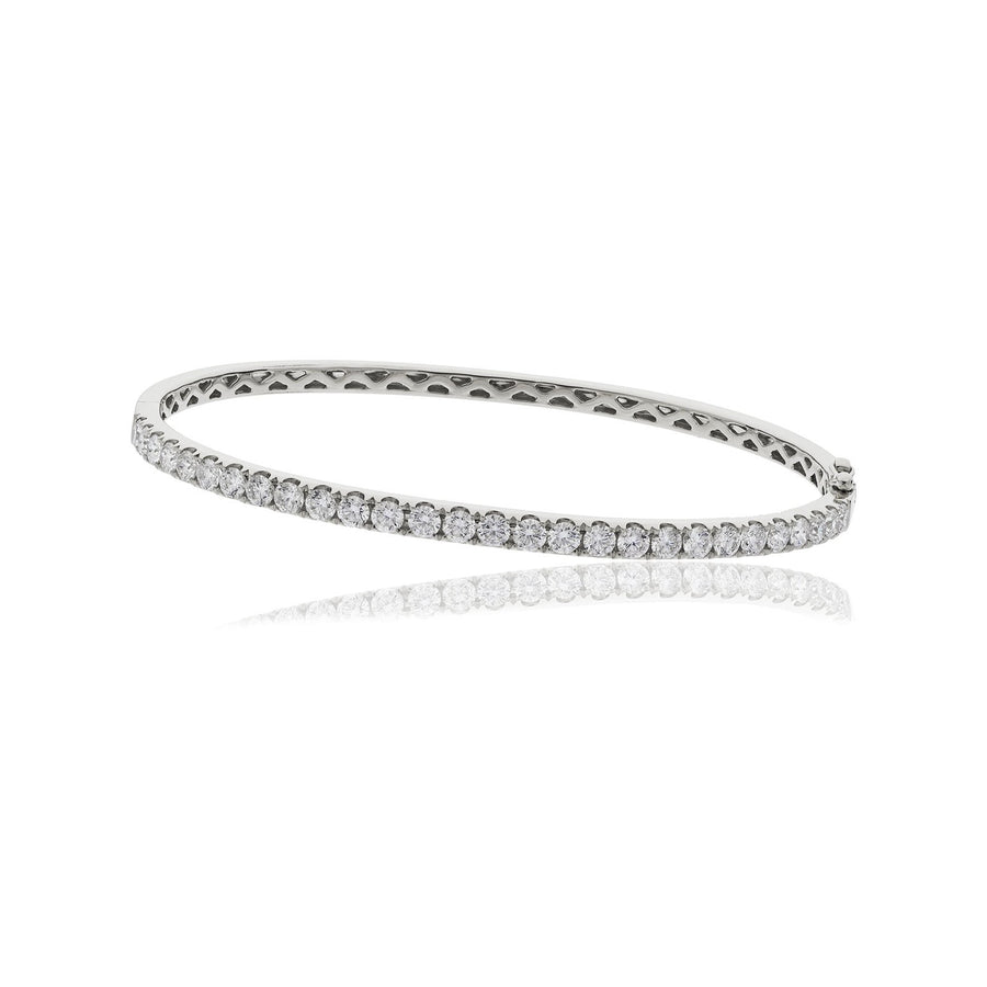 Round Diamond Half Set Fishtail Bangle Bracelets | Shirin Uma