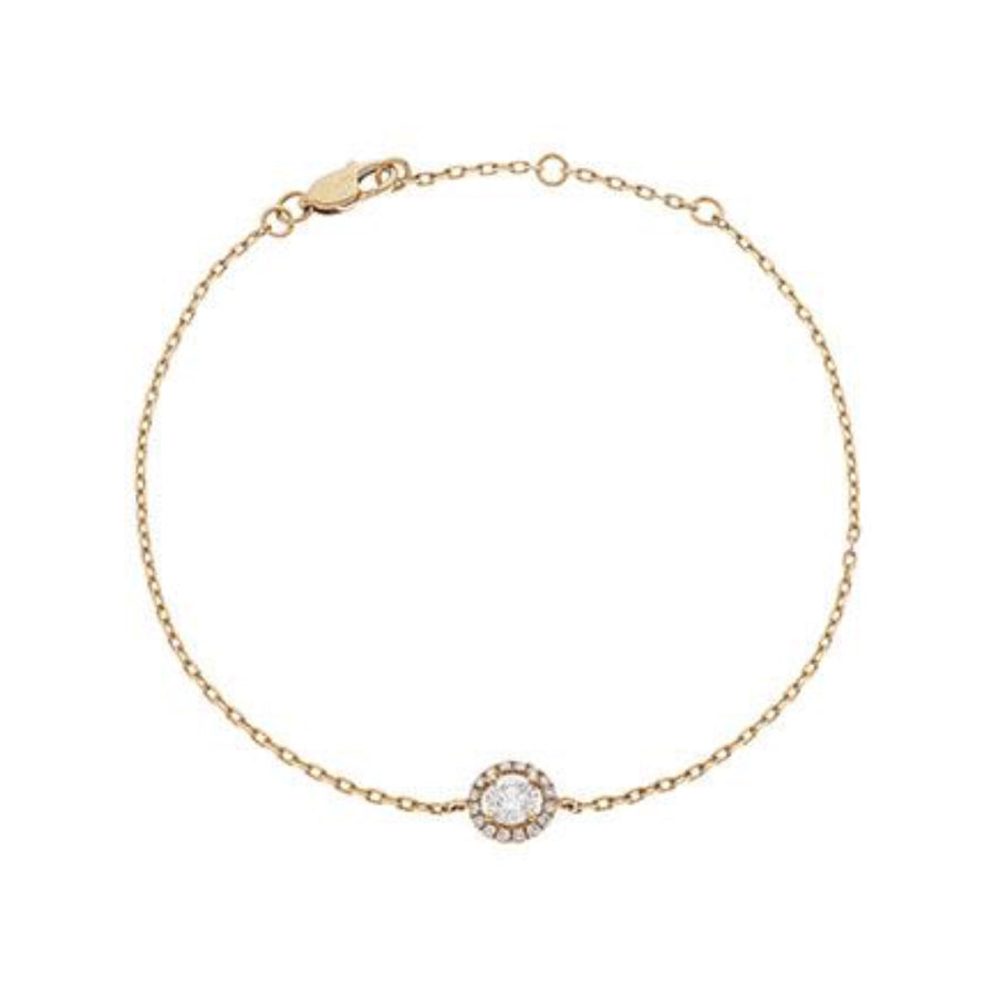 Round Diamond Halo Bracelet in 18k White Gold | Shirin Uma