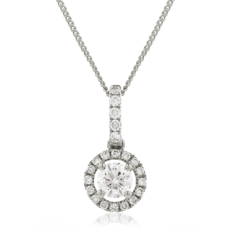 Round Diamond Halo Drop Pendant | Shirin Uma
