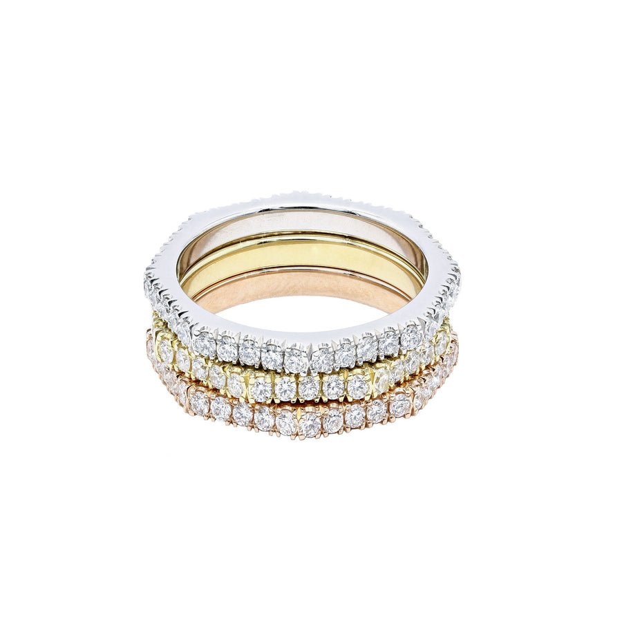 Shake & Stack - Three Tone Eight Sided Diamond Eternity Ring | Shirin Uma