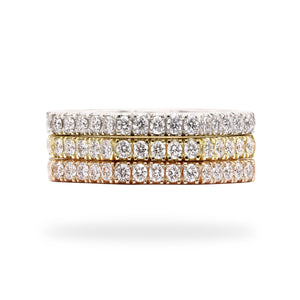 Straight & Stack - Three Tone Eight Sided Diamond Eternity Ring | Shirin Uma