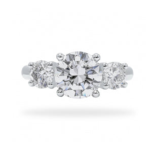 Trilogy - Round Diamond Three Stone Engagement Ring | Shirin Uma