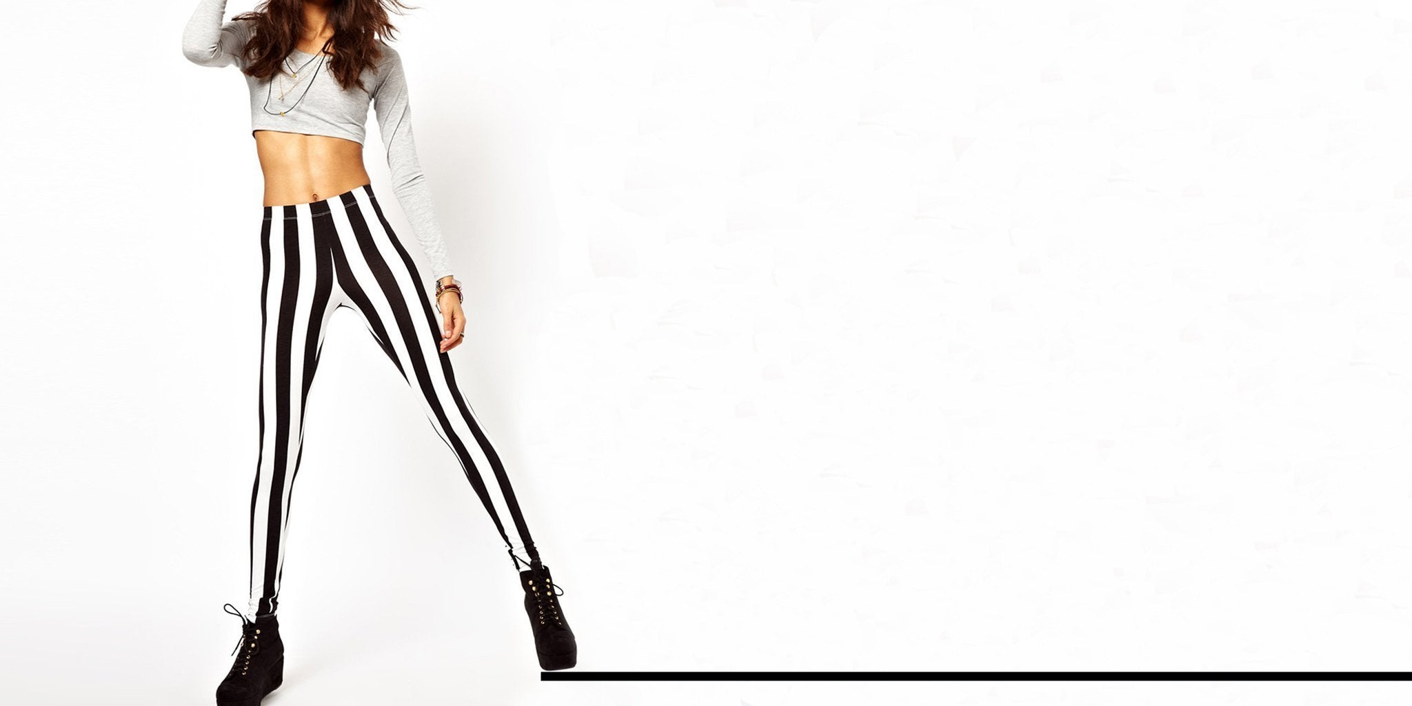 15 Ways to Make Black and White Leggings Work for You